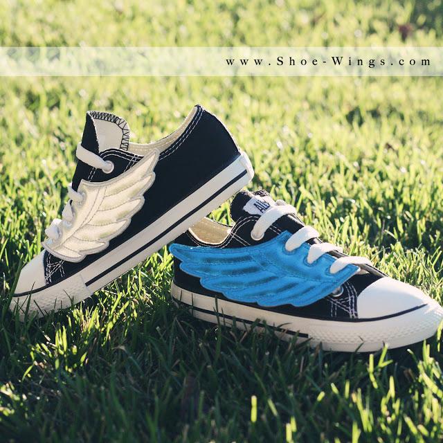 blue gold shoe wings square wm