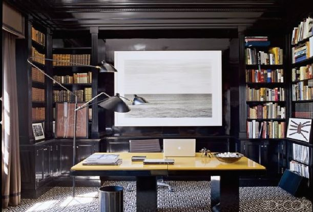workspace-at-home-decorating-with-black-interior