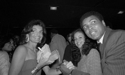 Jackie Onassis with Boxer Muhammad Ali and Wife